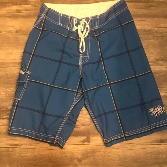 Billabong blue board shorts size 29 defect
